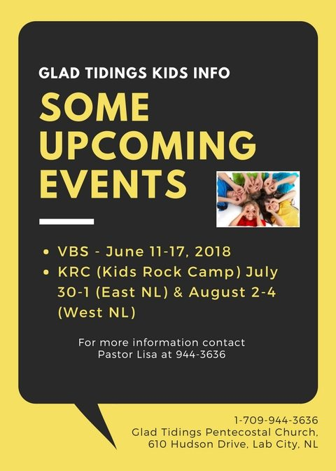 Upcoming Events for Kids